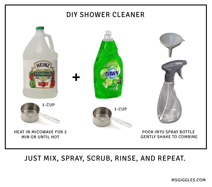 Best Way Clean Shower We Ve Solved The Problem Make This