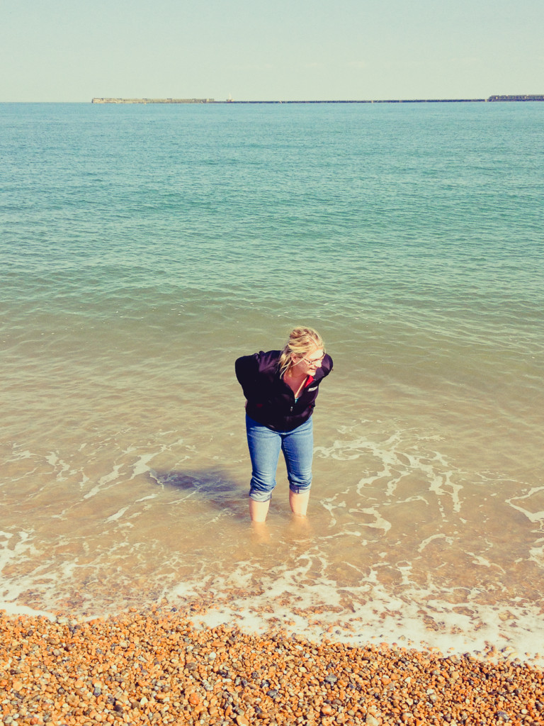 Me standing in the English Channel