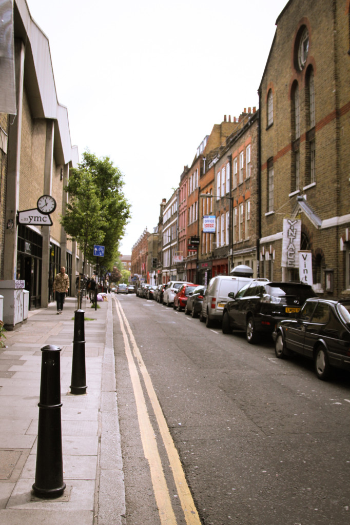 In Shoreditch, a pretty street