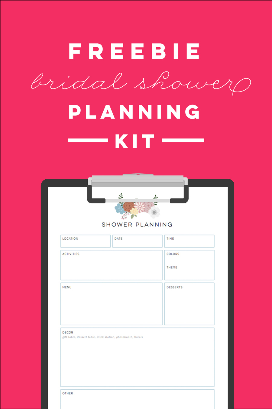 graphic relating to Bridal Shower Checklist Printable named Free of charge Printable Bridal Shower Creating Package Ms Giggles